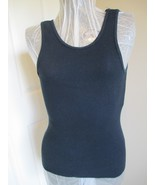 Black  Sleeveless Tagless Tee Size Small Fruit of the Loom Brand auction... - $9.99