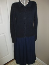 Christopher & Banks Navy Sweater Cardigan Label reads: Christopher & Ban... - $16.99