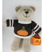 Starbucks Bearista bear with fall bag fall halloween in sweater 2009 - $8.31