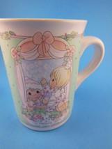 Precious Moments Christmas Mug Friendship Enesco 1992 - $8.31