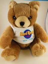 "Hard Rock Cafe New York Teddy Bear with T-Shirt 8 1/2"" Sitting Firm Plush - $9.94"