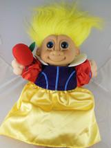 "Adorable 12"" Russ Troll Kidz Snow White with Apple - $9.94"