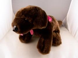 "Barbie Dog Puppy 10"" Plus 3' tail Barks Pants &... - $9.00"