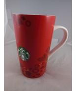 Starbucks Red & Gold  Christmas Mug Cup Red Green Siren Logo 2013 - $11.08