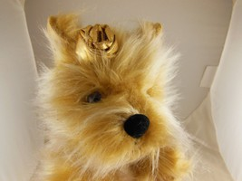 "Russ Berrie Golden Brown Plush Dog Jayde 13""  Excellent Condition ?Yorkie? - $9.94"