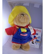 "Paddington Bear w Sears Craftsman Work Apron 15"" & Book ""Colors"" by Mich... - $14.84"