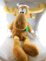 "Cute Bullwinkle Moose Christmas Holiday Plush 15"" sitting 26"" Tall  Macy... - $21.87"
