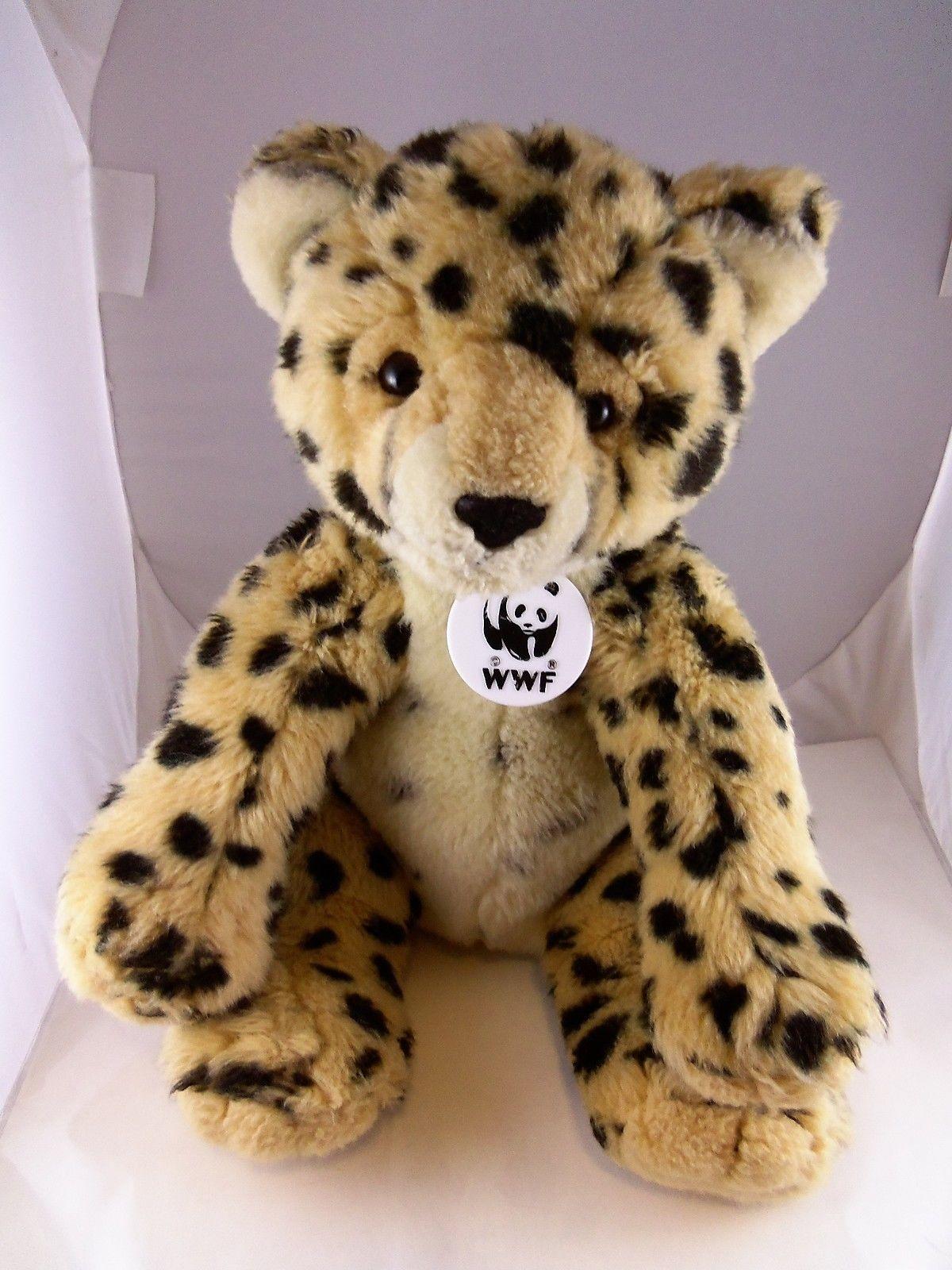 "BABW Build a Bear Workshop 13/"" WWF SNOW LEOPARD 12/"" Plush Toy"