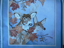 Vintage Fall Deer 1988 Something Special Candamar counted cross stitch kit - $16.82