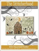 Haunted Holler halloween primitive cross stitch chart The Stitcherhood - $7.20