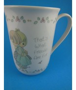 Precious Moments coffee tea Mug Cup That's What Friends are For  1989 - $6.23