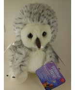 """Russ Berrie Snowy Owl 8"""" Shining Stars collection  NWT sealed code - $11.27"""