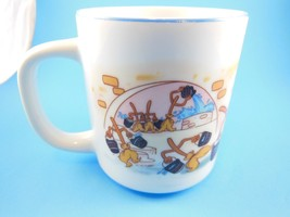 Vintage Disney Mug Cup  Fantasia Mickey Mouse & Dancing Brooms Japan - $9.69