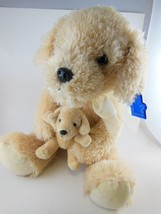 "Golden Retriever Mommy Dog With Puppy Plush10"" Sitting Russ Applause Vin... - $16.57"