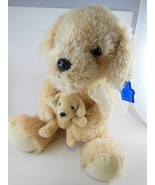 """Golden Retriever Mommy Dog With Puppy Plush10"""" Sitting Russ Applause Vin... - $16.57"""