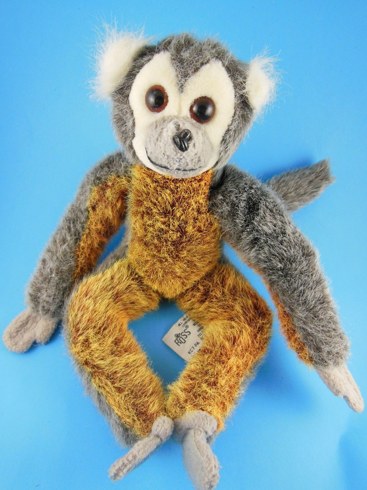 "Primary image for Russ Berrie Monkey Plush 11"" Gaspard ADORABLE Vintage Primate"