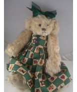 "Cottage Collectibles Christmas 13"" Teddy bear 1998 Carol E. Kirby GANZ K... - $15.93"
