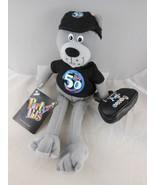 "Teddy Bear  10"" plush The Big 50 Birthday Item Amscan 50's Bear Mint Wit... - $9.28"