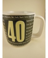 Russ Berrie Birthday Mug Forty Over The Hill Series 12 oz Stoneware New ... - $8.31