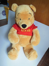 "LARGE 18"" sitting size Winnie the Pooh Excellent Mint with tags Disney toy - $19.89"