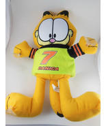 Rare 14' Garfield NASCAR Plush #7 Danica Patrick w/ suction cups for window - $14.54