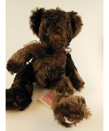 """Rare Russ Berrie Teddy Bear Plush 9"""" Chocolate Embroidered Cup Cocoa on ... - $16.57"""