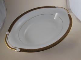 "Beautiful Vintage  Serving Bowl 11"" x 7.5"" Gorgeous Border  Tradition Ebony - $18.55"