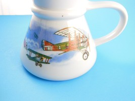 Vintage Otagiri Japan Wide Bottom Mug Bi-Plane ... - $9.69