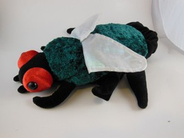 "Adorable 9.5"" Insect Hand Puppet Crushed Green Velvet Caltoy - $7.61"