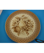 "Harry & David Brown Fruit 8.5"" plate Excellent condition Beautiful - $8.31"