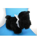 """Adorable Valentine Plush Black Scotty Dog 10""""x 13"""" Kelly Toy - $9.94"""