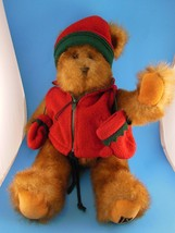 """Awesome 16"""" Fully Jointed Teddy Bear Faux Mink Fur Hat & Mittens T S Bea... - $13.85"""