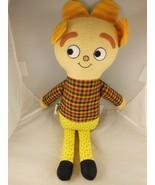 "Adorable 17"" Olbapi Rag Doll Yellow  & Plaid Portland Or Joanne & Sarah ... - $13.26"