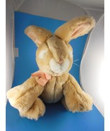 """Russ Berrie 11"""" Apricot Rabbit Plush 5"""" long Ears  Soft and quality Vint... - $10.60"""