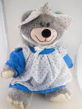 "Country Bear in Bonnet & Dress with Pinafore  Ear tag 15"" Vintage Wallac... - $19.89"