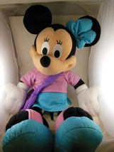 "Large Minnie Mouse Plush 25"" Incl Shoes & Purse Fisher Price 2002 - $17.32"