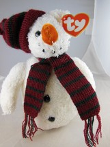 "Awesome 8"" Ty Beanie Babies  Christmas Snow Man MWT 2000 - $7.56"