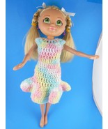 "Mattel & Viacom 2008 Very Cute 13"" Doll Pretty Hair & Eyes  Knit Dress8 - $9.28"