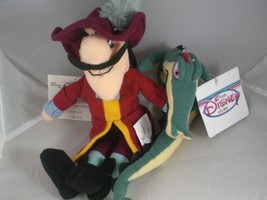 "8"" Captain Hook and Aligator Fantasia bean bags The Disney Store Mint wi... - $6.23"