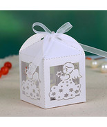 angel hollow-out wedding favor box (set of 12) - $10.84