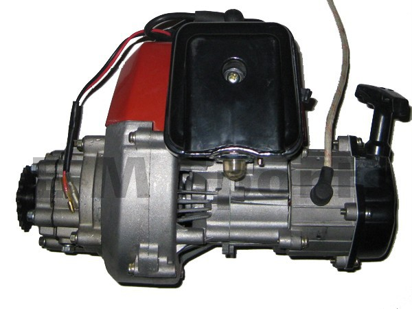 Stand up gas scooter 49cc complete engine motor for 43cc for Stand on scooters with motor