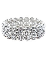 Bridal Wedding Jewelry Stunning Chic Crystal Rh... - $15.50