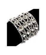 Bridal Wedding Jewelry Crystal Rhinestone 4 Row... - $33.60