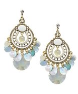 Mother of Pearl Vintage Chandelier Earring Blac... - $11.50