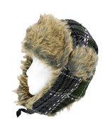 Plaid Design Faux Fur Trooper Aviator Trapper C... - $21.50