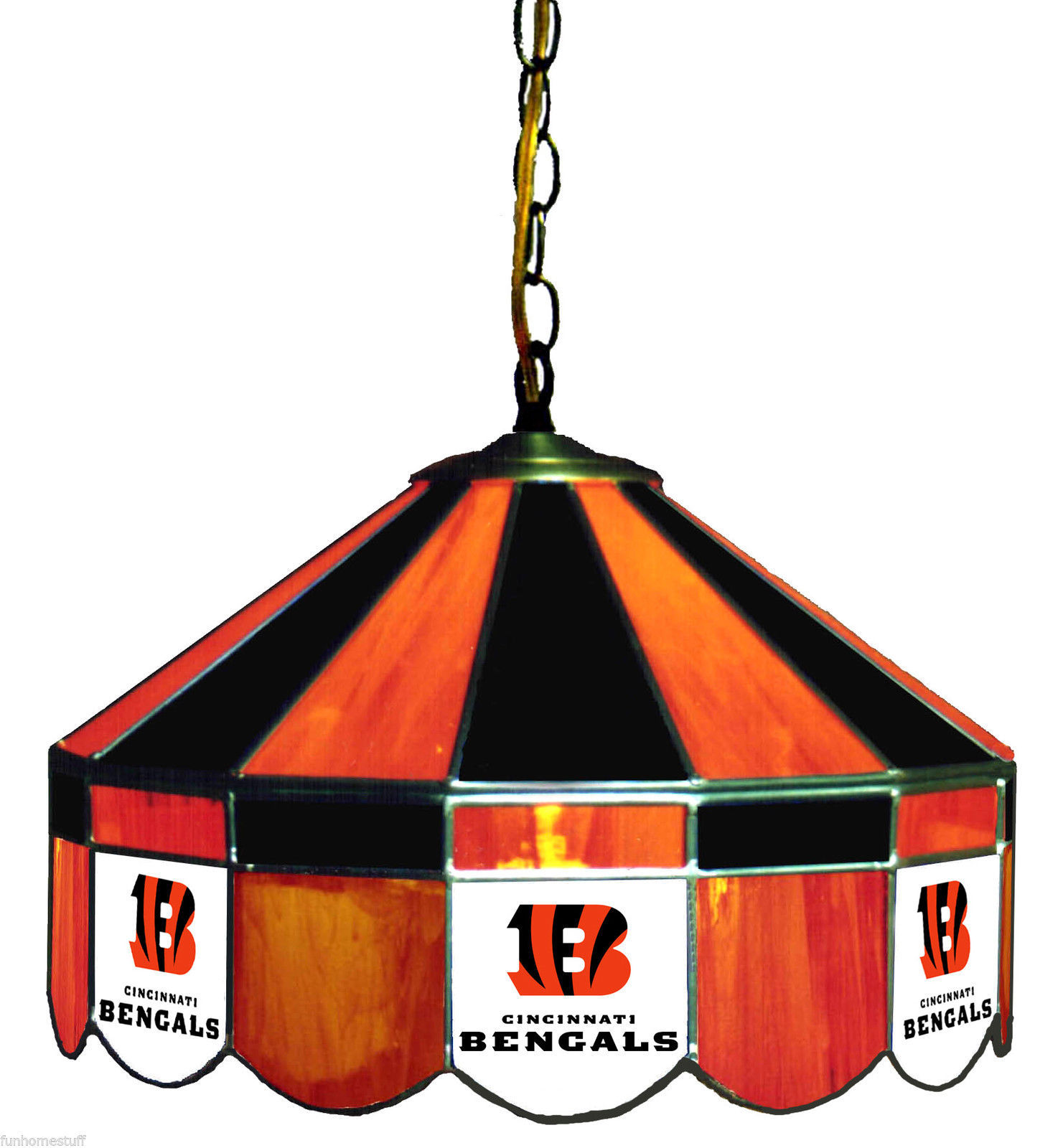 Cincinnati bengals nfl 16 stained glass hanging lamp home bar pub cincinnati bengals nfl 16 stained glass hanging lamp home bar pub table light watchthetrailerfo