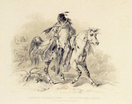 A Blackfoot Indian on Horse-Back 15x22 Karl Bodmer Native American India... - $39.59