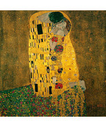 The Kiss 22x30 Art Deco Print by Gustav Klimt Hand Numbered Edition - $64.33