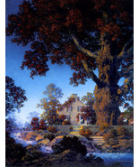 Maxfield Parrish Little Stone House 22x30 Hand Numbered Edition Art Deco... - $64.33