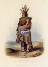 Arrikkara Indian Warrior 30x44 Karl Bodmer Native American Indian Art - $68.59